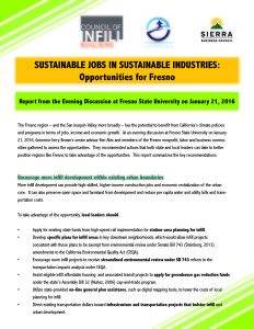 Sustainable Fresno Report -- Feb 2016 Cover