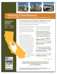 Valuing Downtowns Report Cover